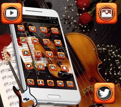 Book Guitar Launcher Theme screenshot 1