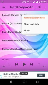 Top 50 Bollywood Songs 2018 screenshot 1