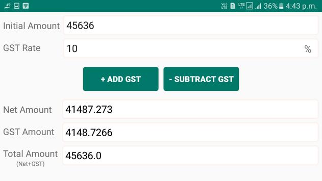 GST Calculator - Include or Exclude GST screenshot 1