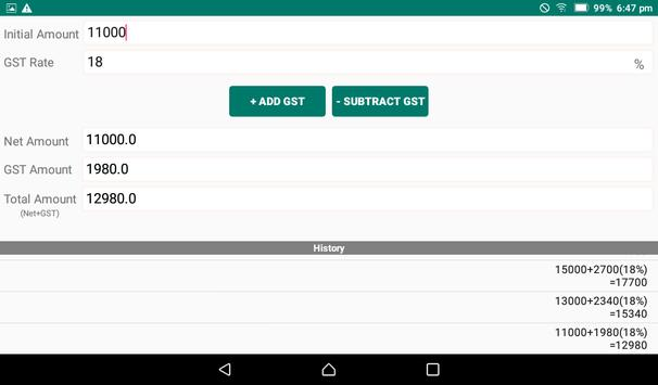 GST Calculator - Include or Exclude GST screenshot 3