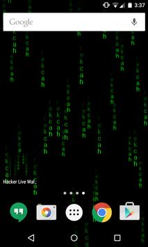 Hacker Live Wallpaper captura de pantalla 2