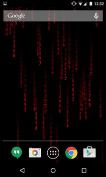 Hacker Live Wallpaper captura de pantalla 3