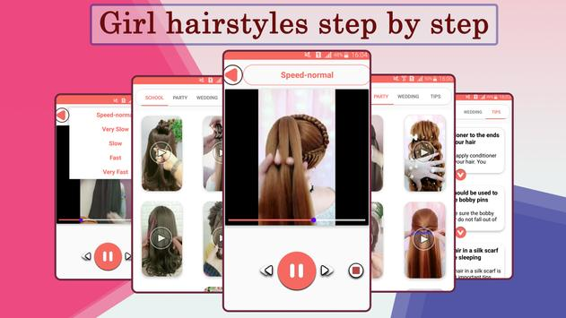 Girls Hairstyle Steps poster