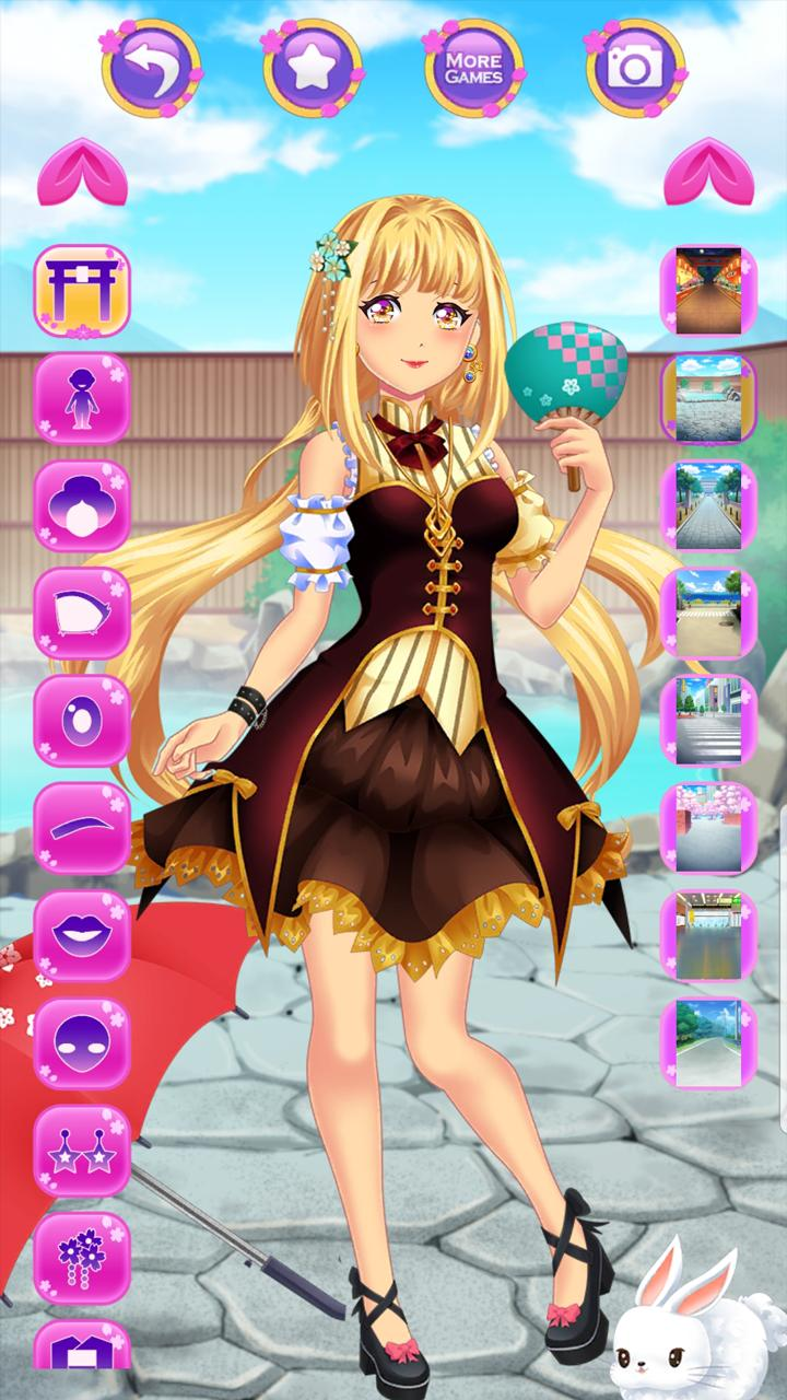 Japanese Girls Dress Up - Anime Makeup High School for Android