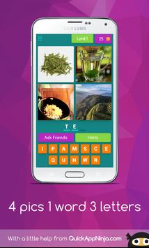 4 pics 1 word 3 letters poster