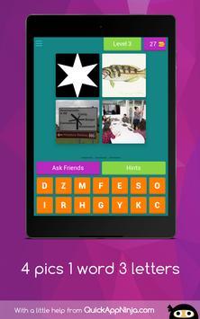 4 pics 1 word 3 letters screenshot 17