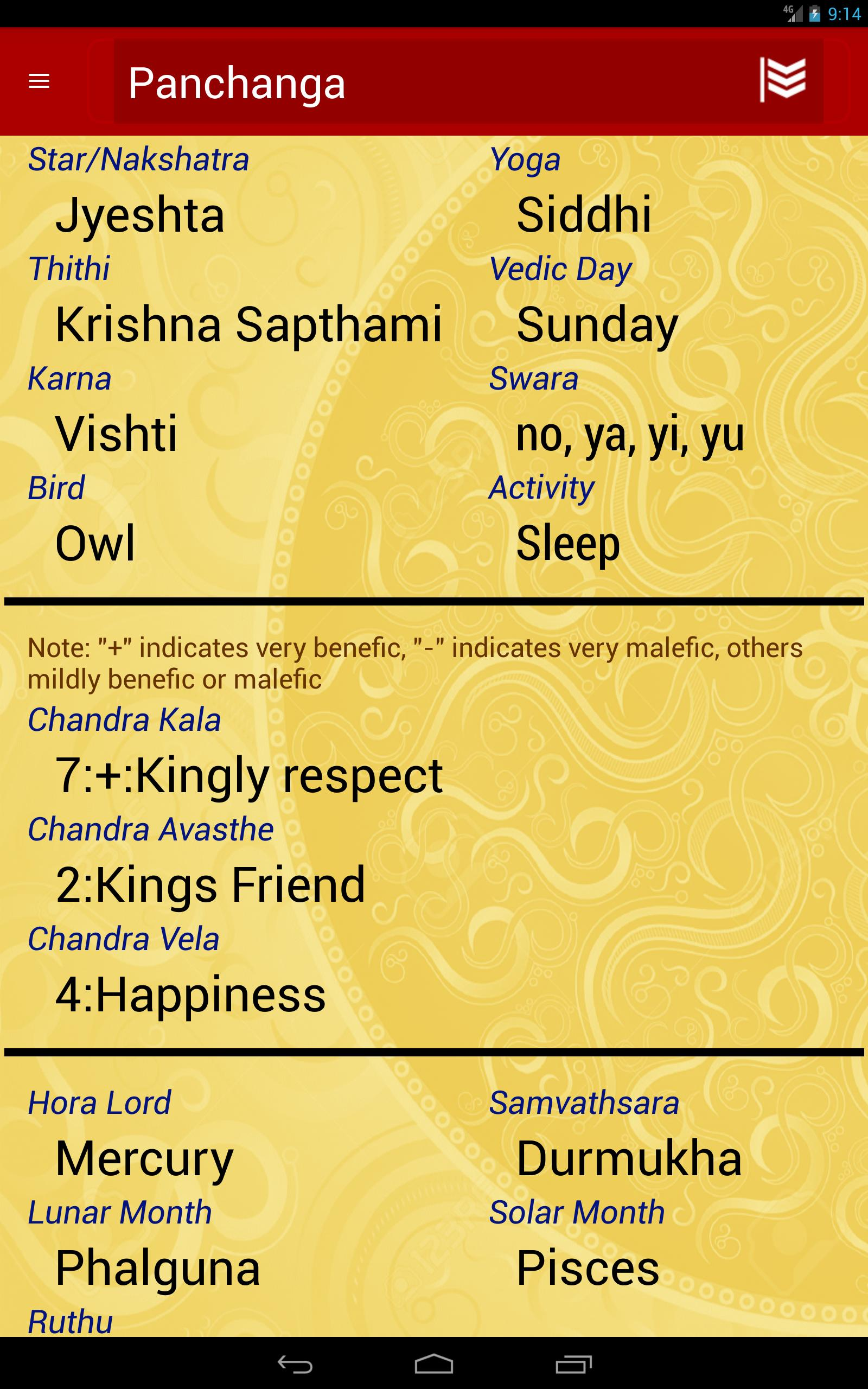 Kala vedic astrology software for android