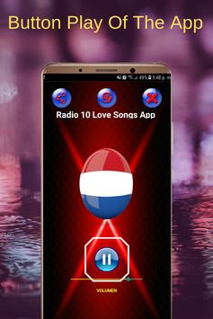 Radio 10 Love Songs App FM NL Online screenshot 1