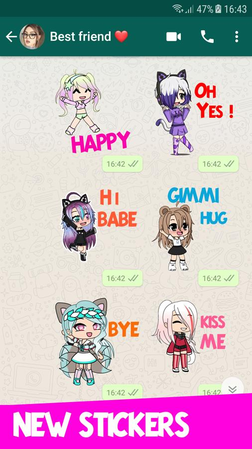 Gacha Life Wastickers 2019 Stickers For Whatsapp For