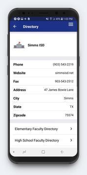 Simms ISD screenshot 2