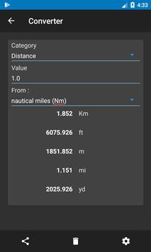 Nautical Calculator capture d'écran 7