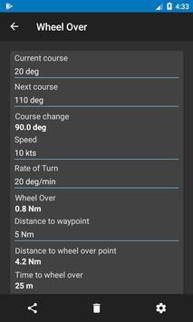 Nautical Calculator capture d'écran 5