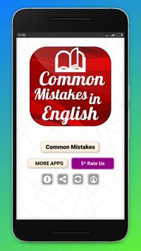Common Mistakes in English Grammar poster