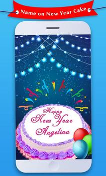 Name On New Year Cake 2019 poster