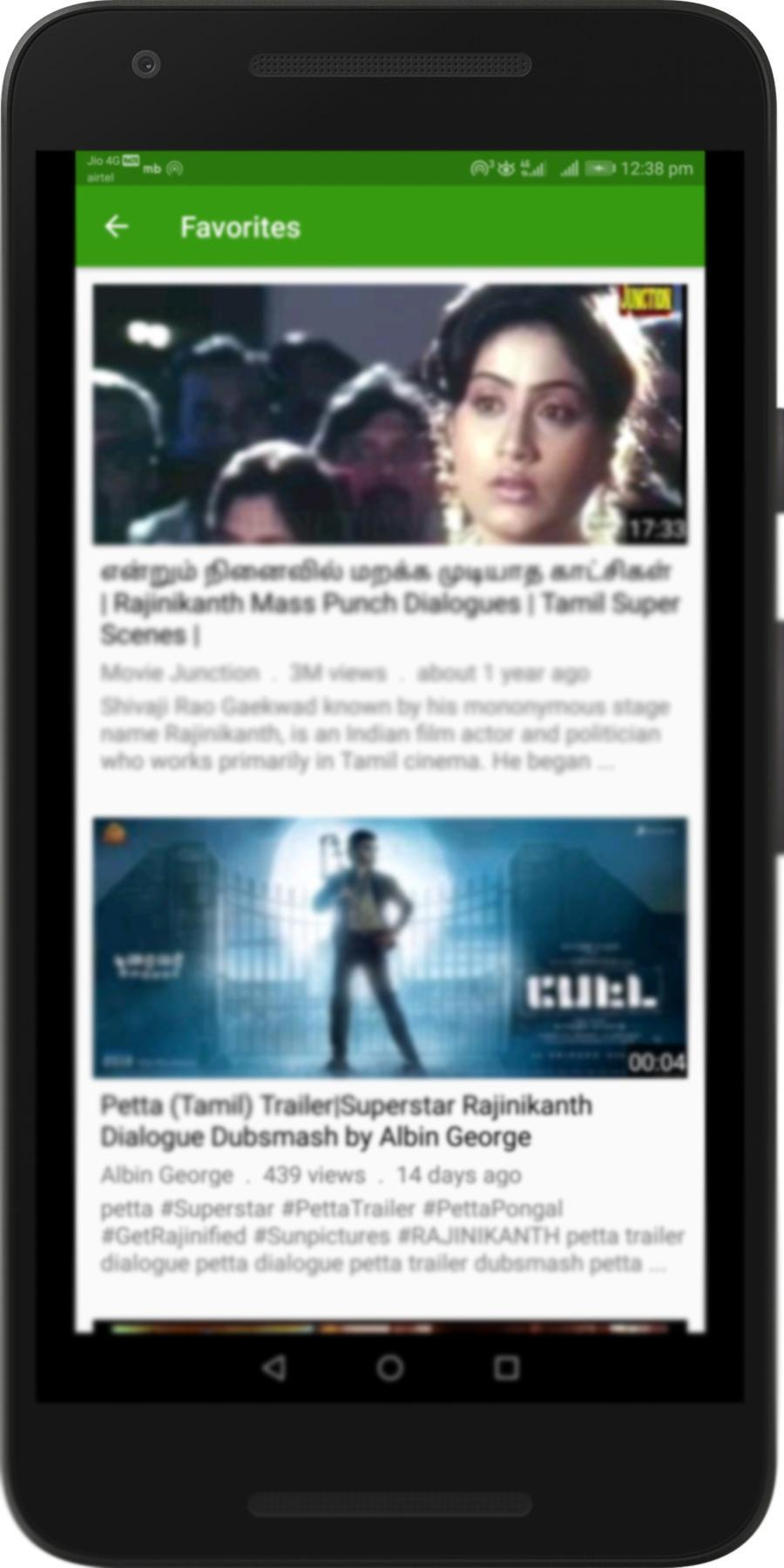 Tamil Punch Dialogues Videos : Mass Hero Scenes for Android