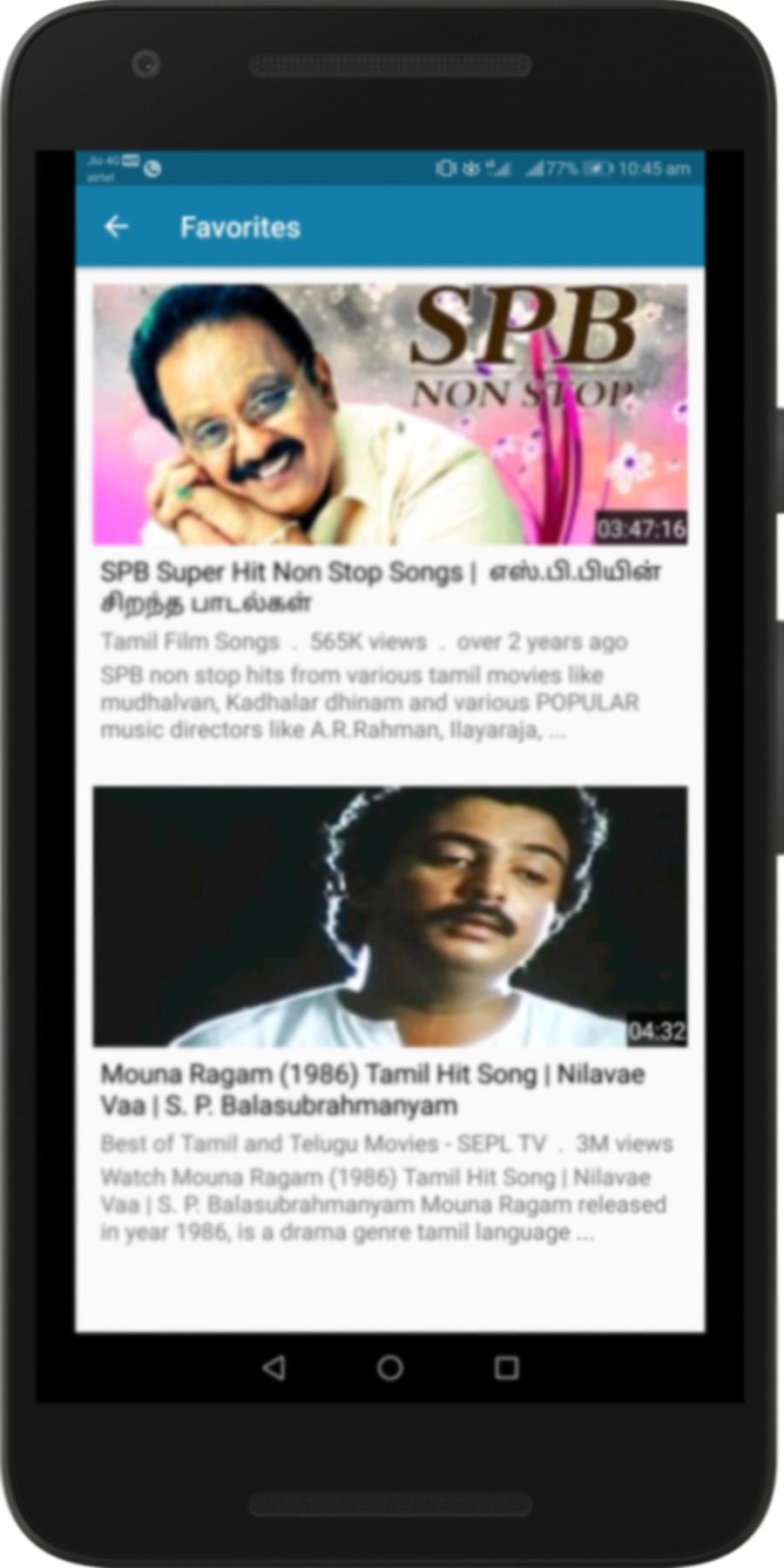 SP Balasubramaniam Tamil Songs : SPB Melody Hits for Android
