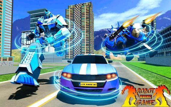 Rhino Robot Car Transformation: Robot City battle poster