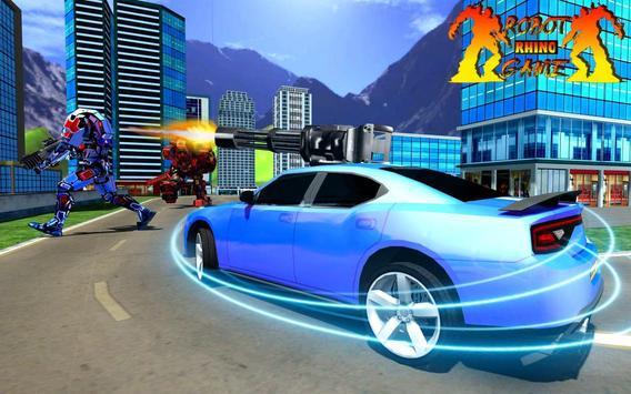 Rhino Robot Car Transformation: Robot City battle screenshot 1