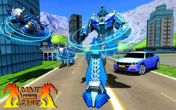 Rhino Robot Car Transformation: Robot City battle screenshot 3