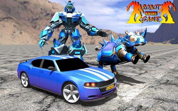 Rhino Robot Car Transformation: Robot City battle screenshot 5
