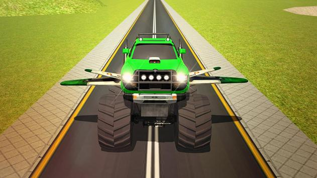 Flying Truck Pilot Driving 3D poster