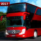 Real Euro City Bus Simulator Driving Heavy Traffic