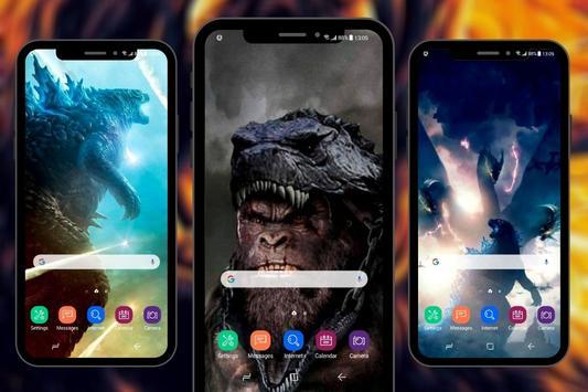 Monster Godzilla Kong Wallpapers تصوير الشاشة 10