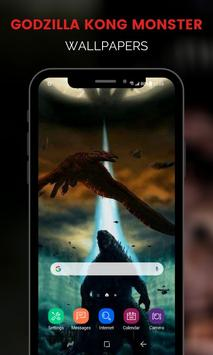 Monster Godzilla Kong Wallpapers تصوير الشاشة 11