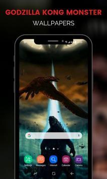 Monster Godzilla Kong Wallpapers تصوير الشاشة 6