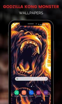 Monster Godzilla Kong Wallpapers تصوير الشاشة 7