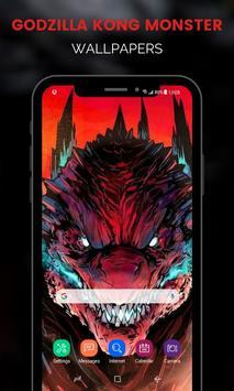 Monster Godzilla Kong Wallpapers تصوير الشاشة 8