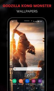 Monster Godzilla Kong Wallpapers تصوير الشاشة 9