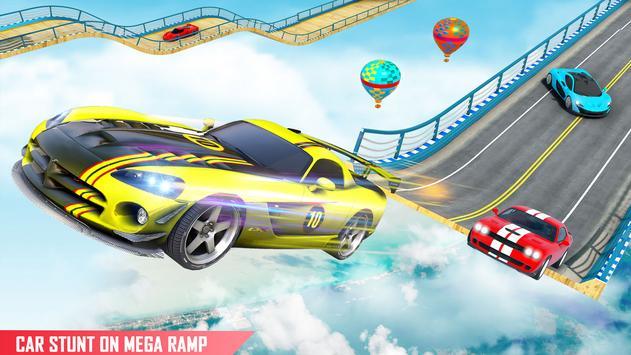 Mega rampa carro corrida stunts 3D: carro jogos imagem de tela 3
