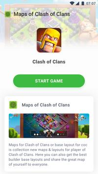 Maps of Clash of Clans poster
