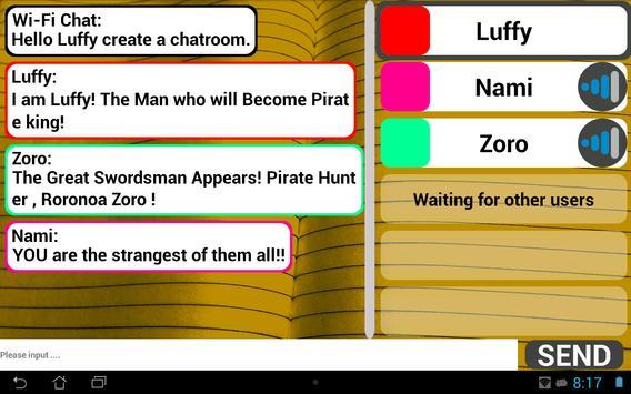 Wi-Fi Chat capture d'écran 2