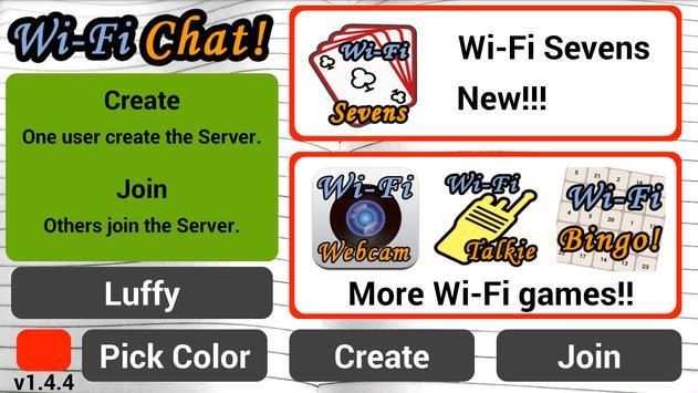 Wi-Fi Chat capture d'écran 3