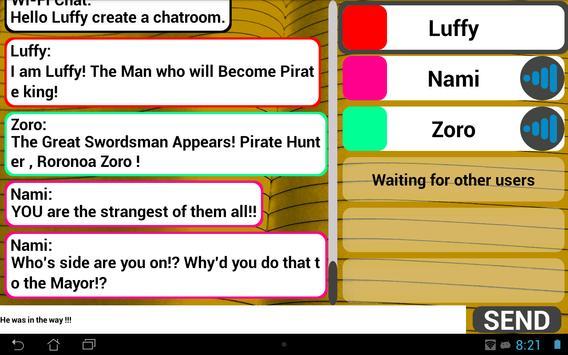 Wi-Fi Chat capture d'écran 8