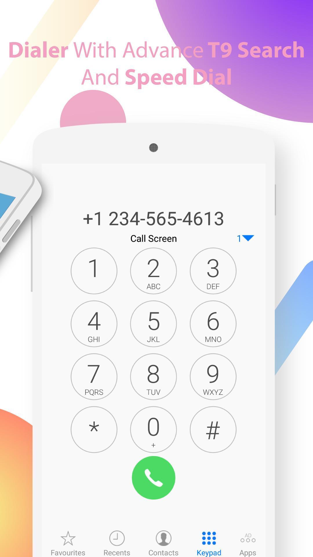 Live Color Call Screen Theme Phone X OS 11 Dialer para