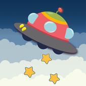 UFO: unidentified falling object icon