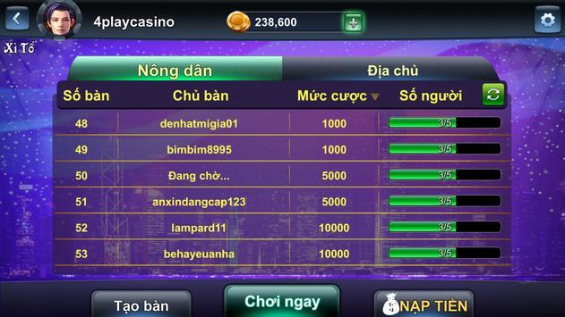4Play - Xì Tố Online screenshot 2