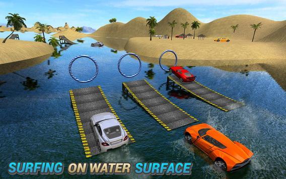 Water Car Surfing Stunt Driving Latest Game screenshot 3