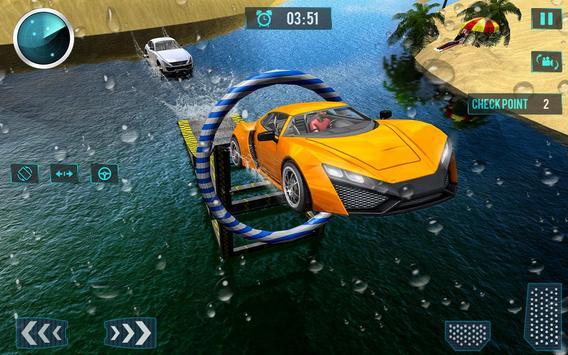 Water Car Surfing Stunt Driving Latest Game screenshot 10