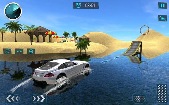 Water Car Surfing Stunt Driving Latest Game screenshot 1