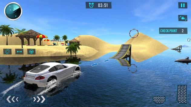 Water Car Surfing Stunt Driving Latest Game screenshot 6