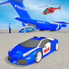Police Car Transport Truck: Flying Airplane Cargo ikona