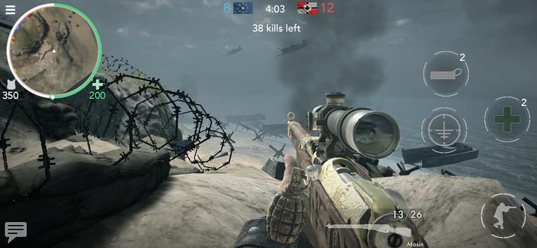 《世界大戰 - 英雄》:第一人稱二次大戰射擊遊戲! 海報