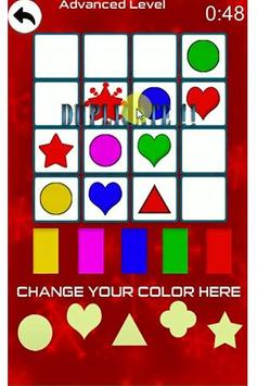 Sudoku Color Shapes Puzzle : Kids Free Game screenshot 2