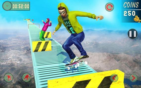 8 Schermata Impossible Tracks Skateboard Games