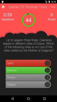 UnOfficial Game Of Thrones Quiz Trivia Game screenshot 3