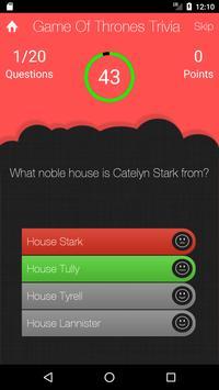 UnOfficial Game Of Thrones Quiz Trivia Game screenshot 2